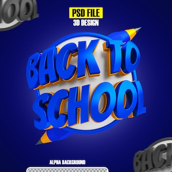 Bleu noir à l'école 3d reder
