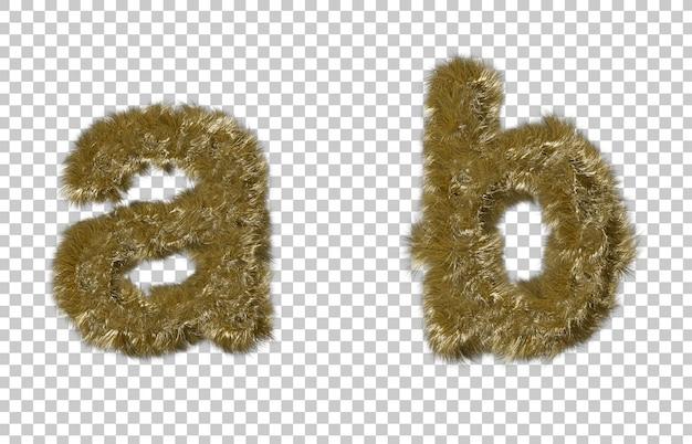 Blonde fourrure lettre a et lettre b