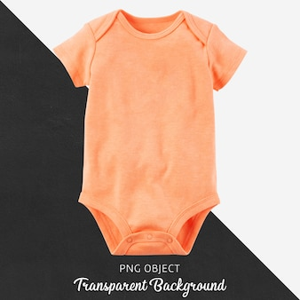 Body orange transparent pour bébé ou enfants