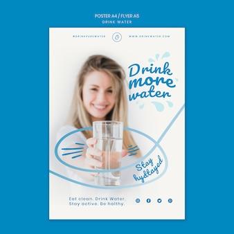 Boire le modèle de bannière de concept d'eau