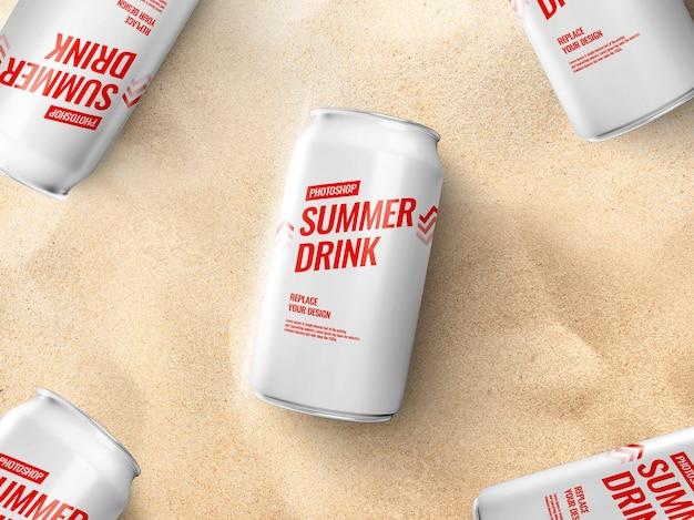 Boire Peut Maquetter Réaliste PSD Premium