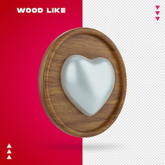 En bois comme bulle en rendu 3d isolé