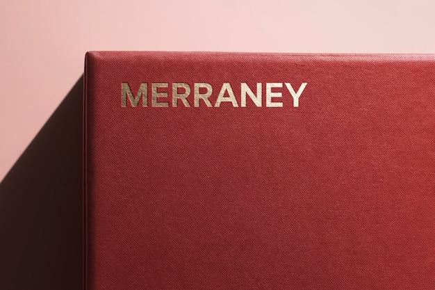 Boîte d'angle moderne pour maquette de logo