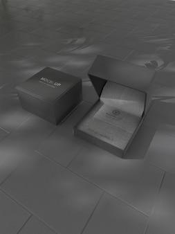 Boîte à bagues logo maquette
