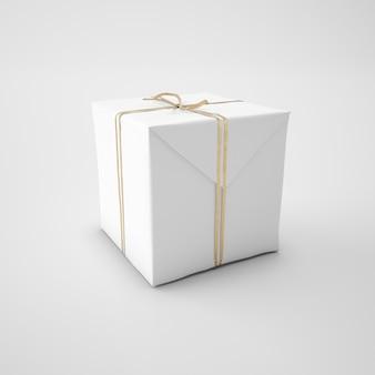 Boîte blanche avec cordon