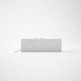 Boîte blanche avec ruban