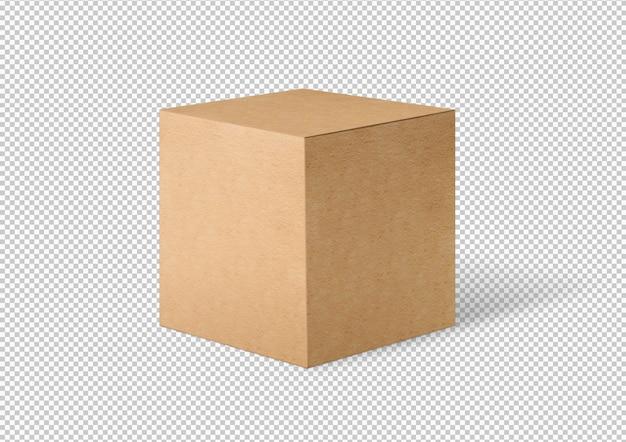 Boîte en carton isolée