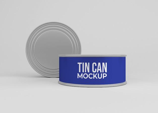 Boîte de conserve en aluminium peut maquette isolée