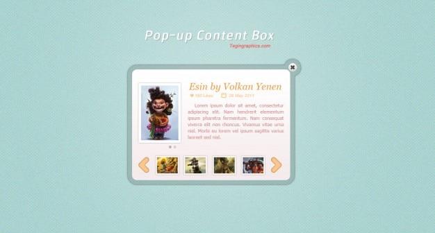 Boîte de contenu drôle avec avatar