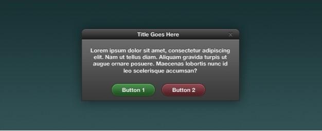 Boîte de dialogue de l'interface