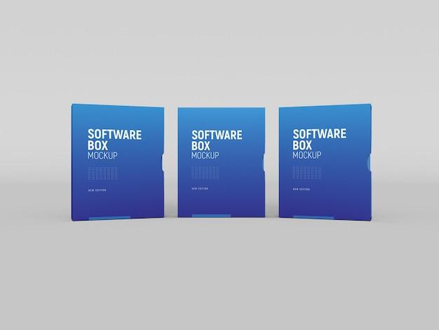 Boîte logicielle avec maquette de manchon