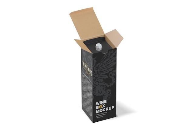 Boîte en papier pour maquette de bouteilles