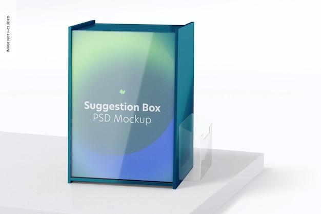 Boîte à suggestions sur la maquette de surface