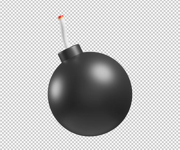 Bombe 3d illustration design rendu isolé