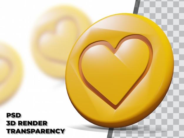 Bonbons dalgona 3d avec fond transparent