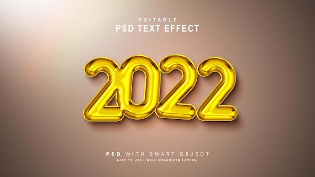 Bonne année 2020 effet de texte or