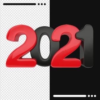 Bonne année 2021 dans le rendu 3d