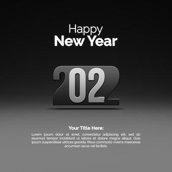Bonne année 2022 carte de voeux sur fond noir