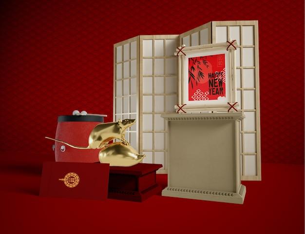 Bonne année concept style chinois