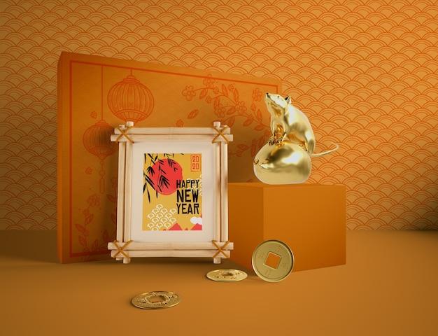 Bonne année du rat chinois
