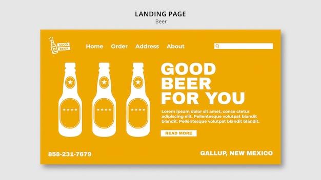 Bonne bière pour vous modèle web de page de destination