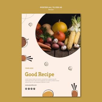 Bonne conception d'affiche de recette