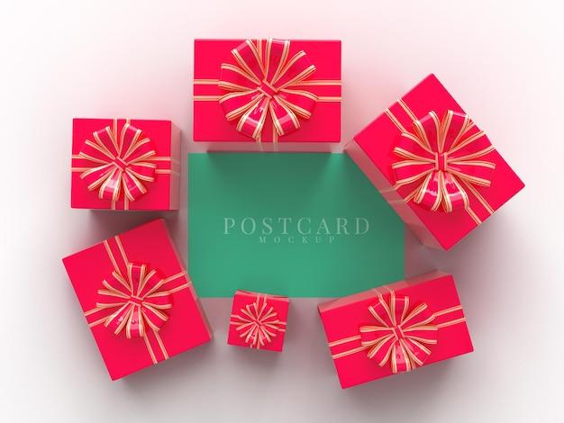 Bonne fête de célébration de la saint-valentin avec des décorations de boîte-cadeau