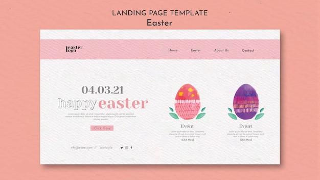 Bonne page de destination pour le jour de pâques