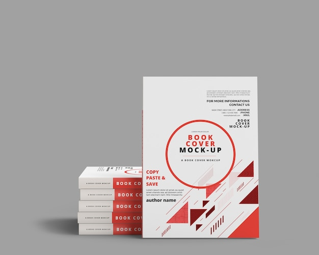 Book cover mockup - couverture souple