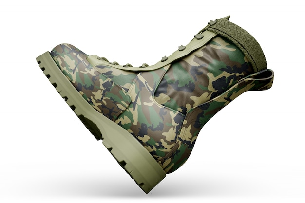Bottes militar maquette