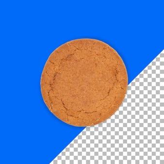 Bouchent la vue regal biscuit isolé