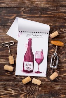 Bouchons de vin à côté des bouchons