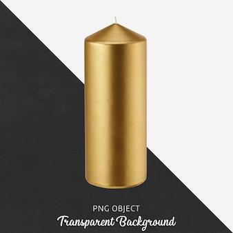 Bougie dorée sur fond transparent