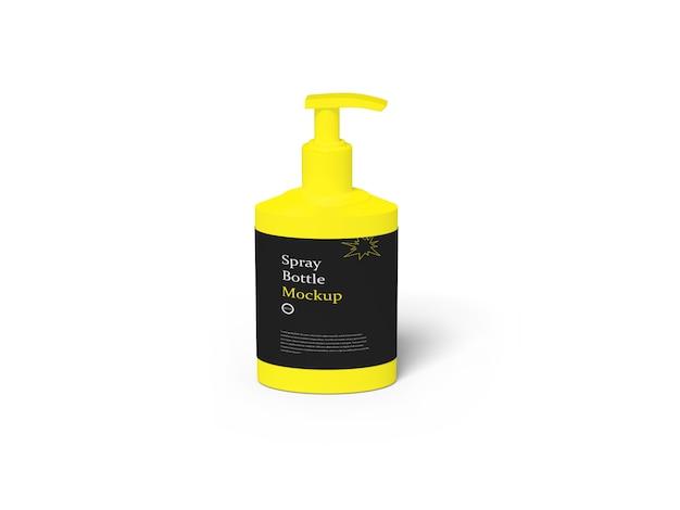 Bouteille de désinfectant pour les mains sur blanc