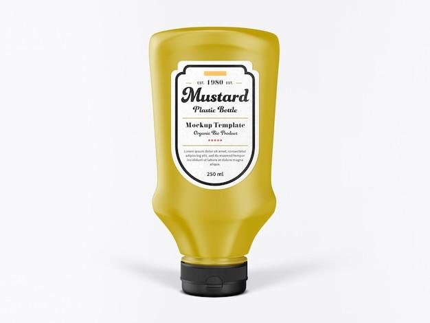 Bouteille de maquette de moutarde réaliste