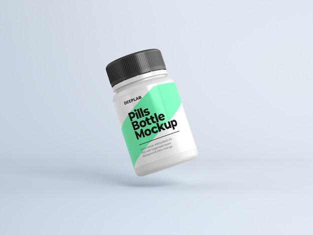 Bouteille de pilules avec maquette modifiable de conception psd