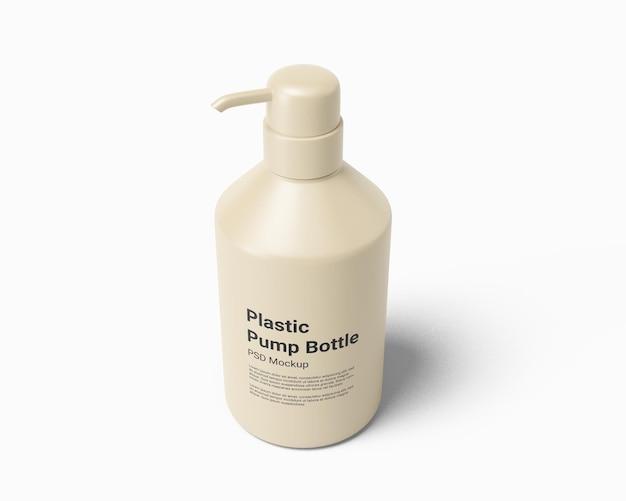 Bouteille en plastique de distributeur de savon liquide avec maquette de pompe