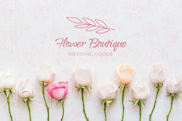 Boutique de fleurs avec des roses