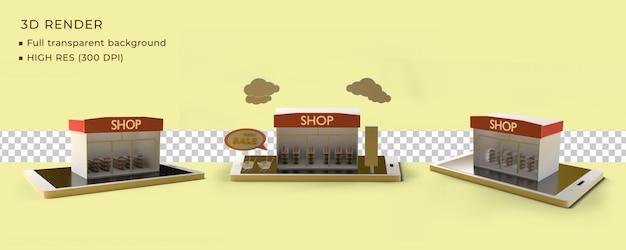 Boutique en ligne de rendu 3d 3