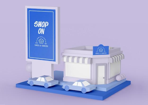 Boutique de publicité extérieure sur concept