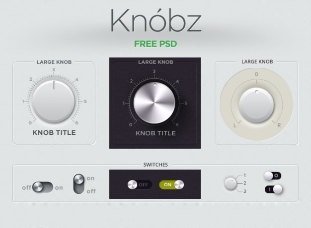 Le bouton audio gui interface kit bouton knobz interrupteur à coulisse ui ui kit