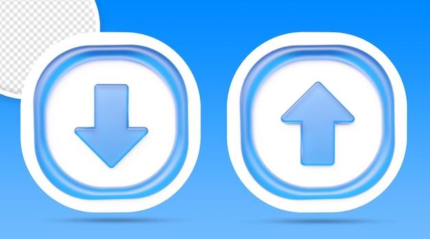 Bouton d'icône de téléchargement et de téléchargement