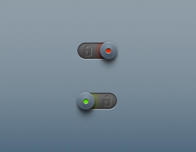 Bouton de verrouillage cadenas curseur de déverrouillage