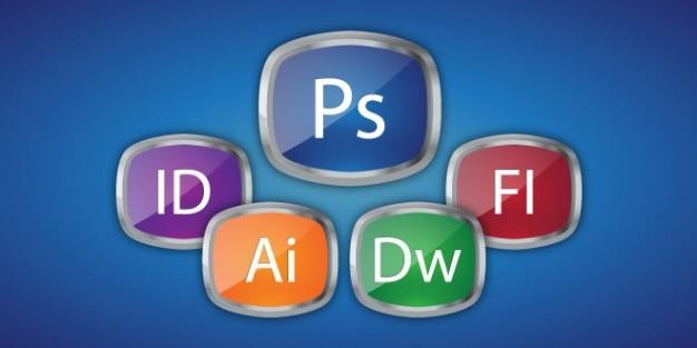 Boutons de conception de logiciels adobe