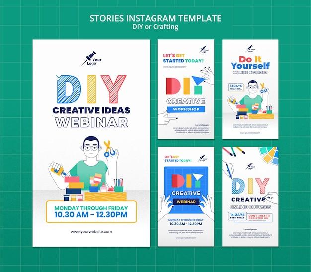 Bricolage ou création d'histoires instagram