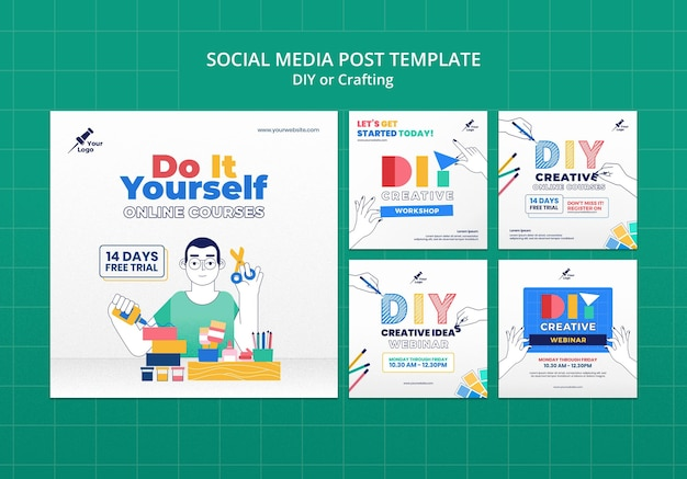 Bricolage ou création d'une publication sur les réseaux sociaux