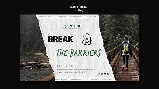 Briser les barrières modèle de randonnée