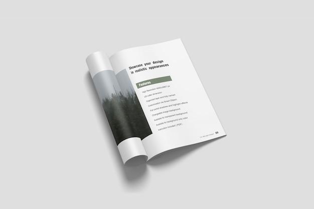Brochure a4 / maquette de magazine