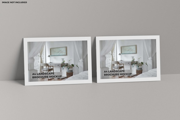 Brochure a4 maquette de paysage