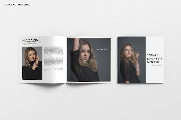 Brochure carrée et maquette de catalogue